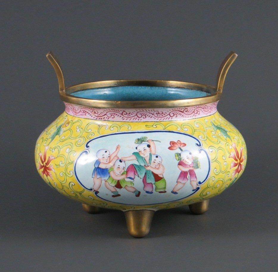 Chinese Qing Dynasty Enamel/Cloisonne Censer