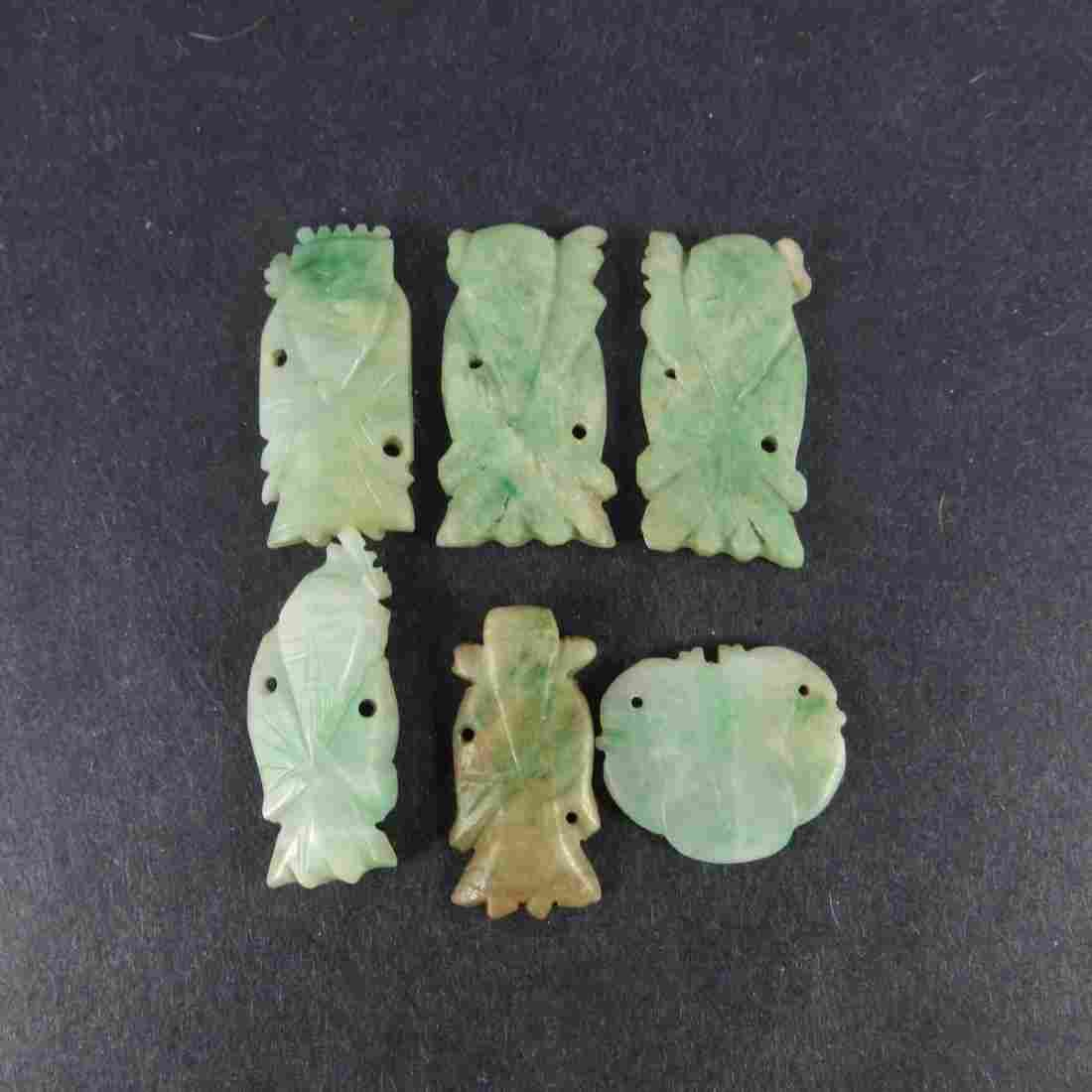 Six Chinese Qing Dynasty Jadeite Pieces