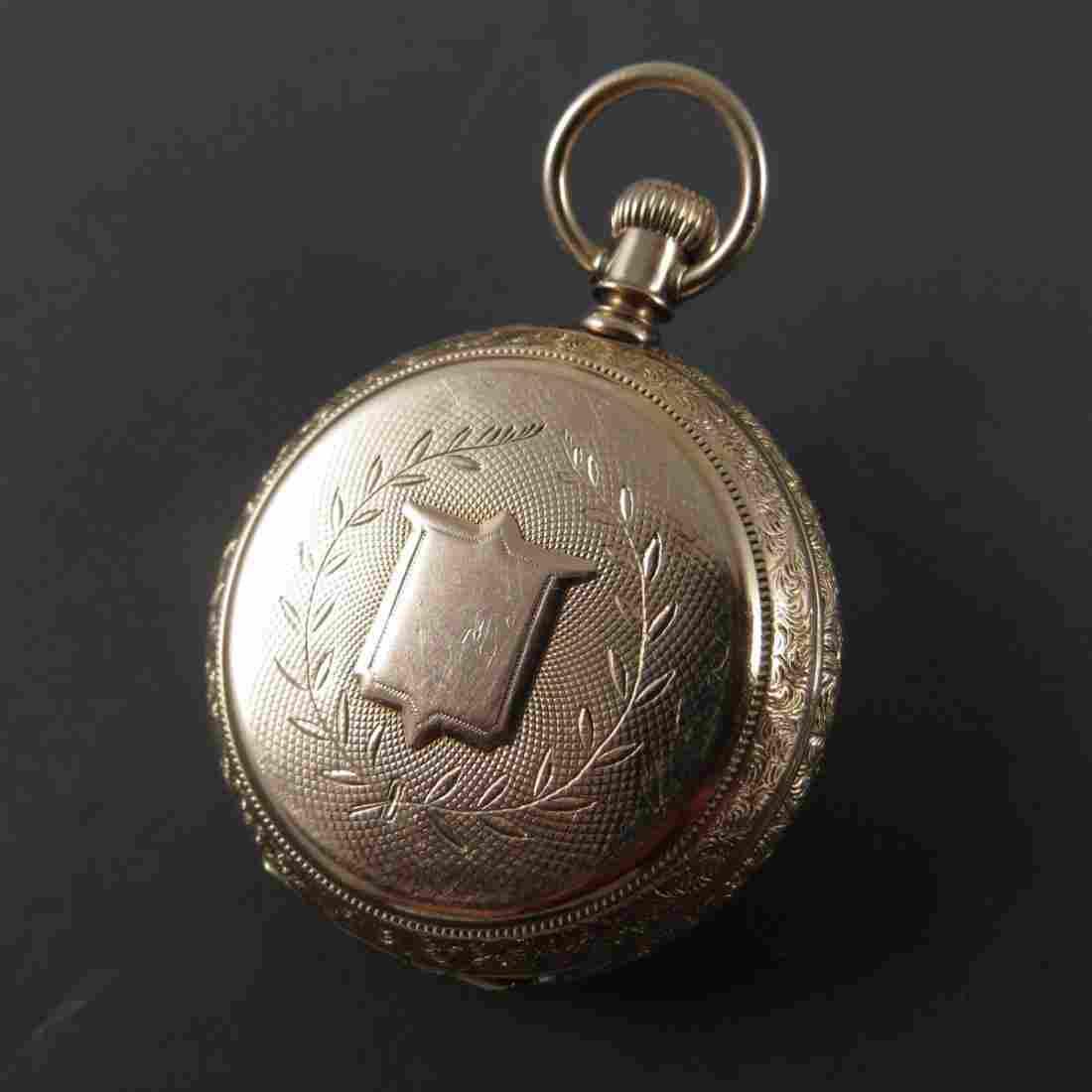 A.W. & Co Waltham Lady's Rose Gold Pocket Watch