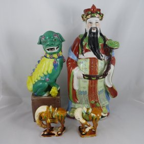Chinese Porcelian And Pottery Set