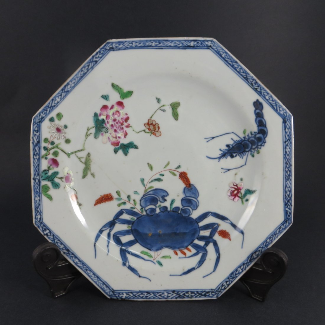 Chinese Famille Rose Porcelain Plate, Qian Long