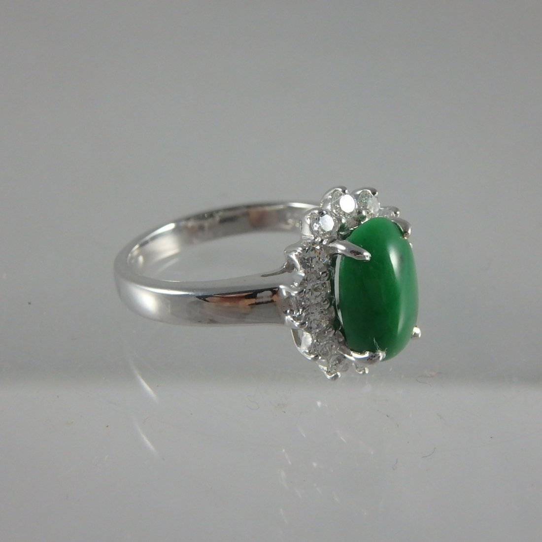 Sterling Jadeite Ring