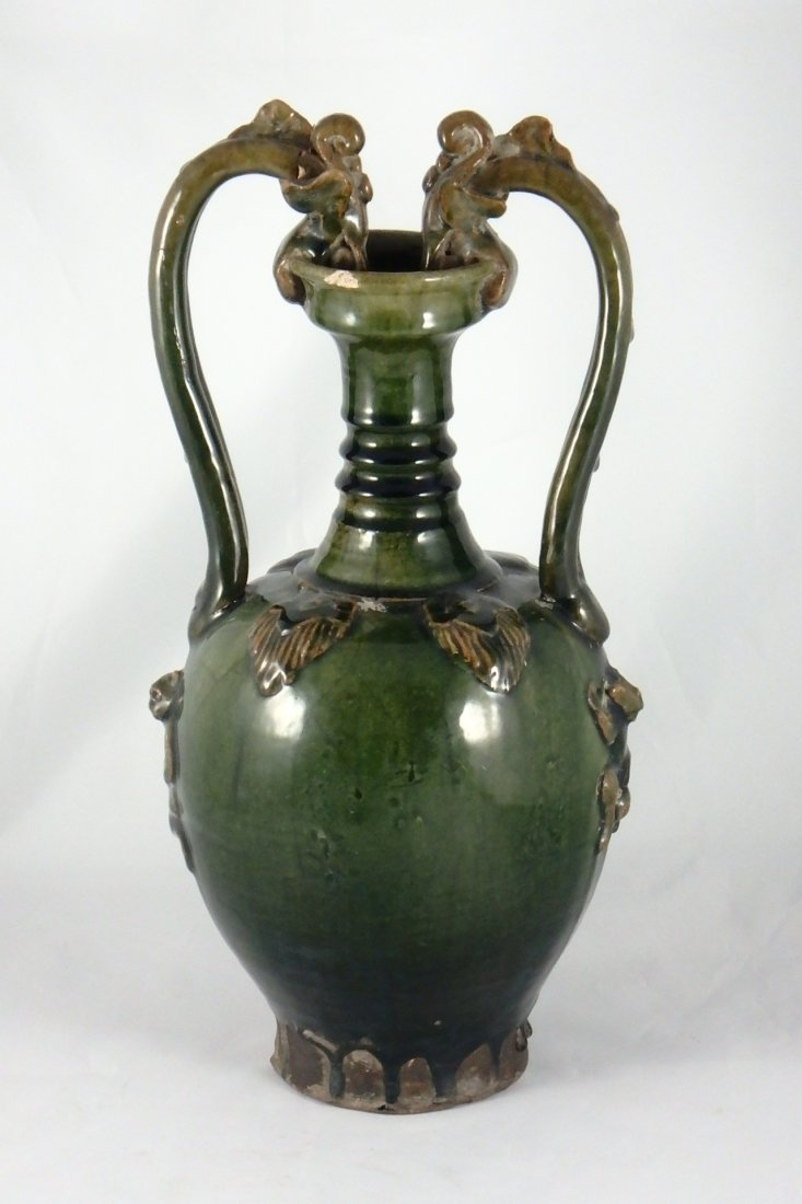 Chinese Tang Dynasty Dragon Amphora Vase