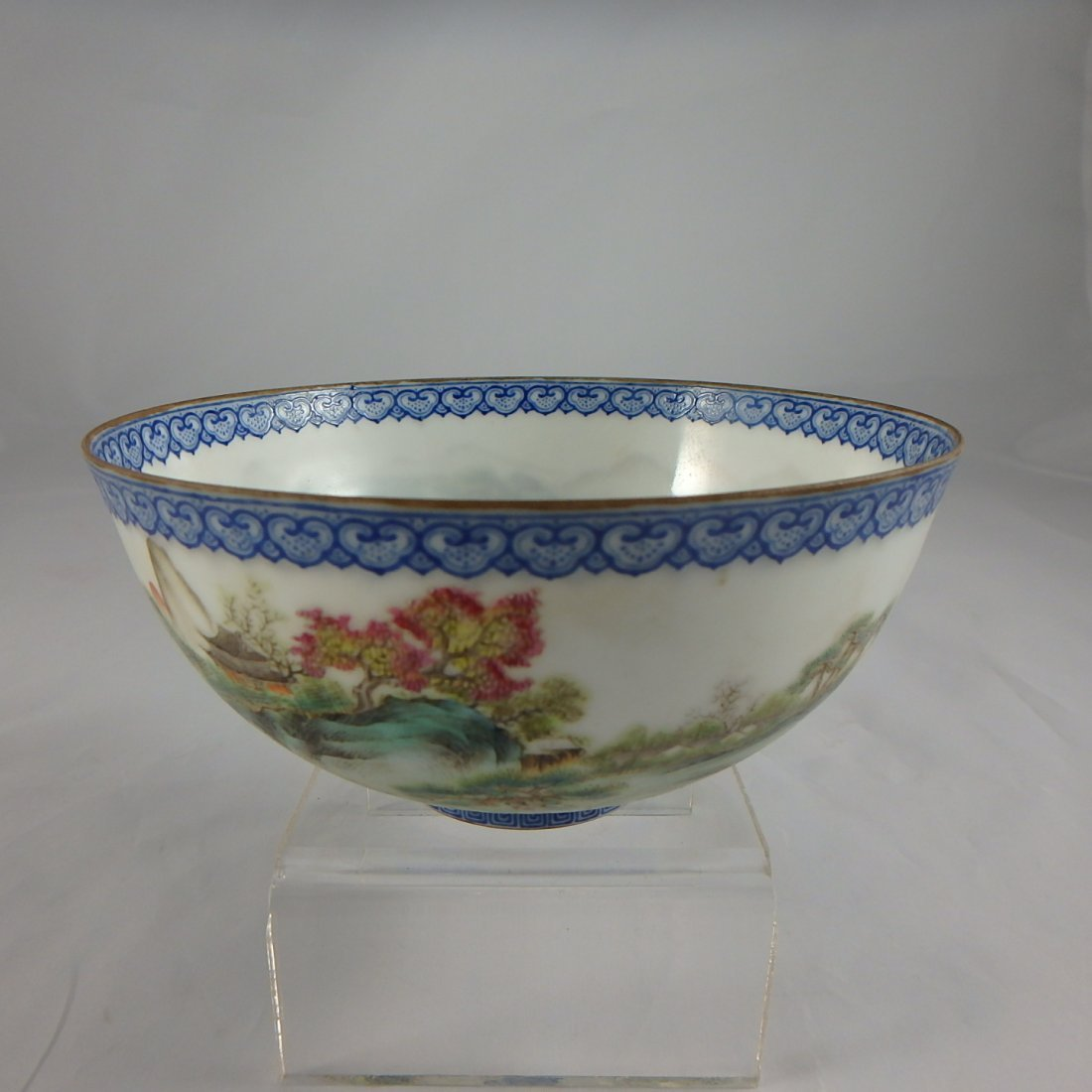 Chinese Egshell Famille Rose Bowl