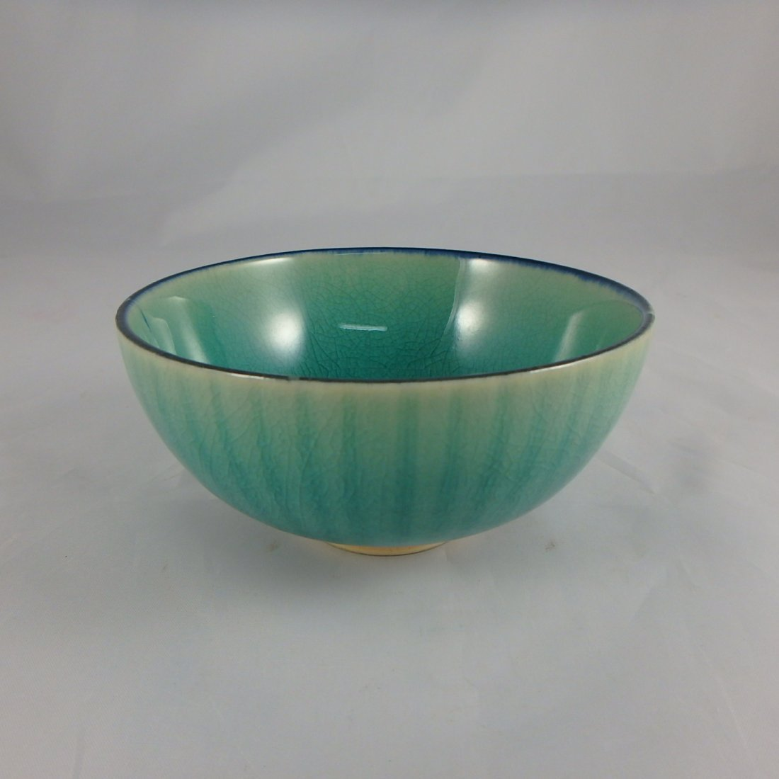 Chinese Qing Dyansty Peackockblue Bowl