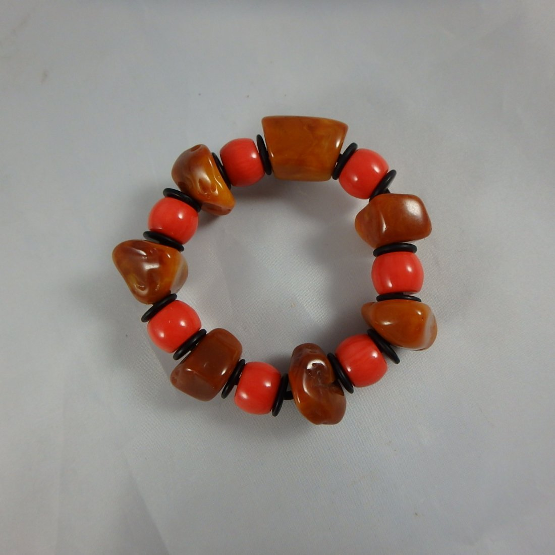Beewax/Coral Bracelet