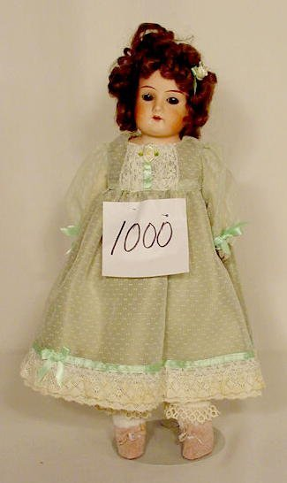1000: Bisque Head Doll Marked Germany NR