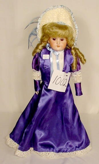 1002: Bisque Head Doll Marked  Floradora  NR