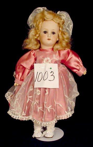 1003: Bisque Head Doll Marked Jutta NR