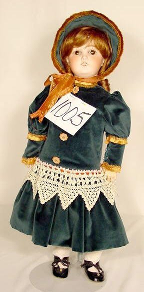 1005: Bisque Head Doll Marked G & S 3 Germany NR