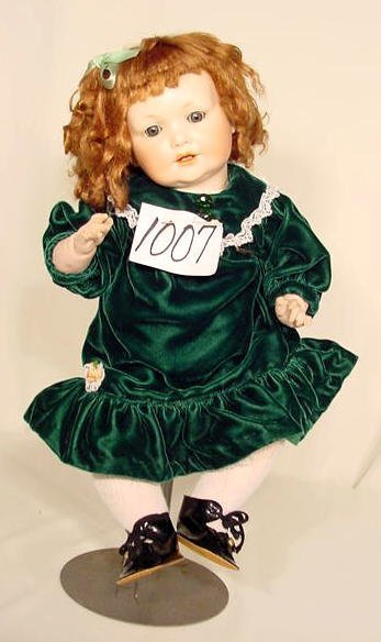 1007: Bisque Head Doll Marked A 6 M NR