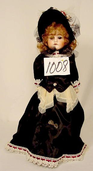 1008: Bisque Head Doll Marked Lily 9 /ox NR