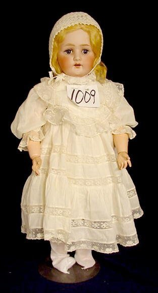 1009: Bisque Head Doll Marked Heubach 2504 NR