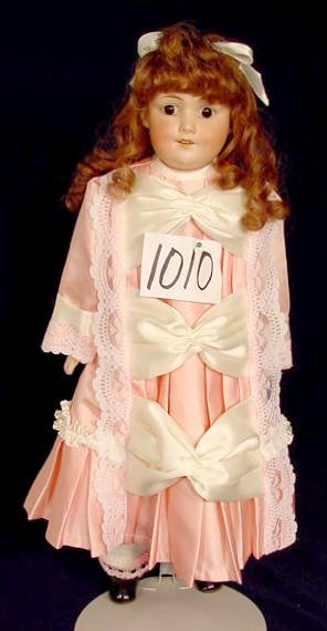 1010: Bisque Head Doll Marked A M Baby Betty NR