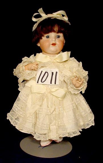 1011: Bisque Socket Head Doll Marked A 5 M NR