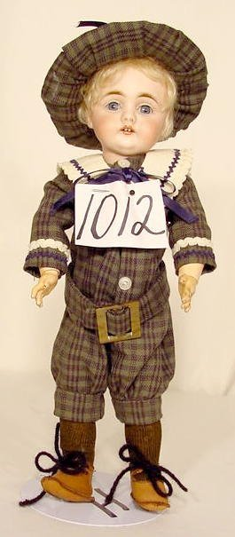 1012: Bisque Head Doll Marked B 6 Germany NR