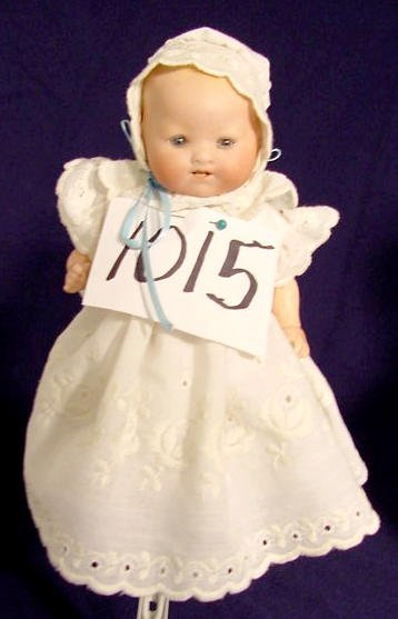 1015: Bisque Head Doll Marked A M Germany NR