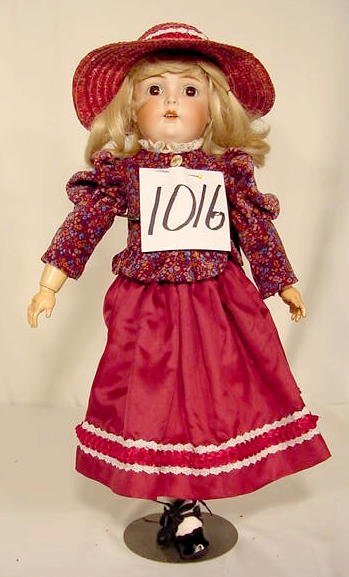 1016: Bisque Head Doll Marked 5 1/2 Germany NR