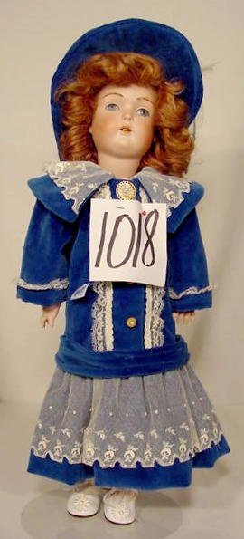 1018: Bisque Socket Head Doll Marked Germany NR