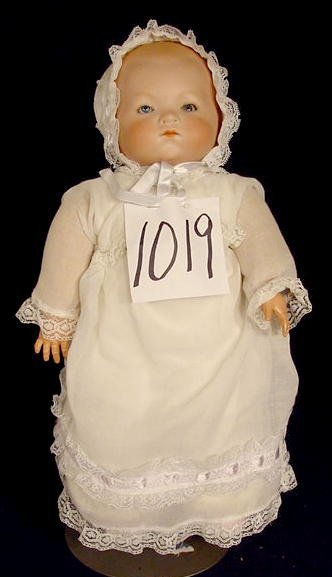 1019: Bisque Head Doll Marked A M Germany NR