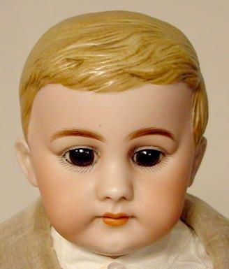 1020: Unmarked Bisque Shoulder Plate Head Doll NR