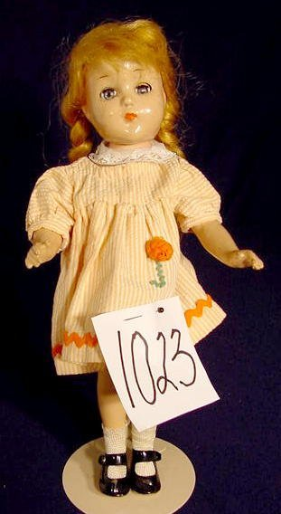 1023: Unmarked Composition Head Doll NR