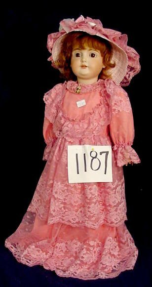 1187: Bisque Head Doll Marked K 1/2 14 1/2 Germany 164