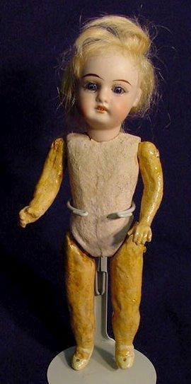 1378: Bisque Head Doll Marked G K 44-18 NR