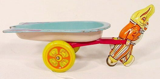 2001: Wyandotte Tin Litho Happy Easter Toy NR