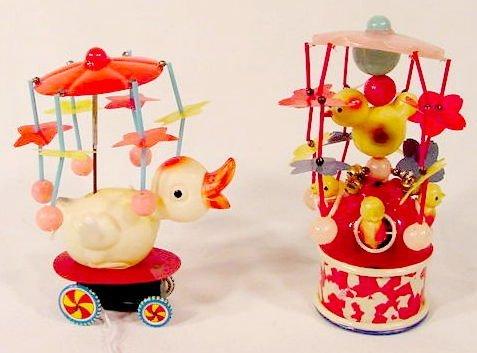2020: 2 Celluloid Japan Key Wind Mechanical Toys  NR