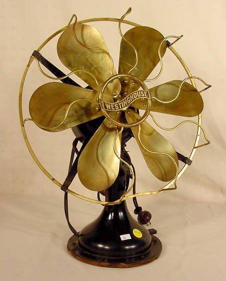 1301A: Westinghouse 6 Brass Blade Fan NR
