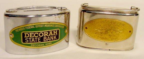 1306: 2 Nickel Plated Iowa Banks NR