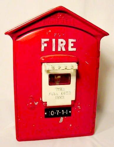 "1313: ""Gamewell Fire"" Fire Alarm Box NR"