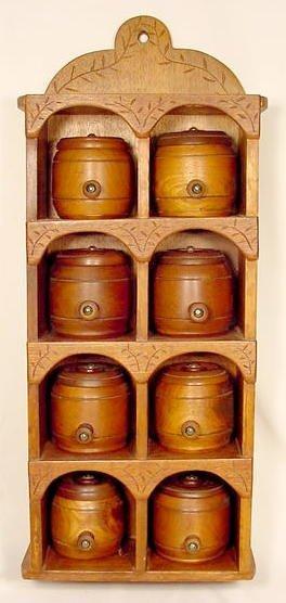 1315: Walnut Hanging Spice Rack NR
