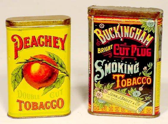 1554: 2 Pocket Tobacco Tins