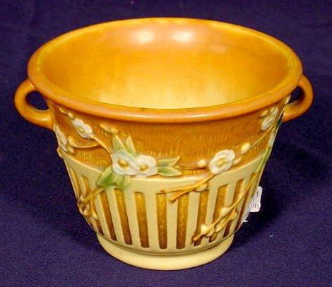 """1: Roseville Pottery """"Cherry Blossom"""" Vase NR"""