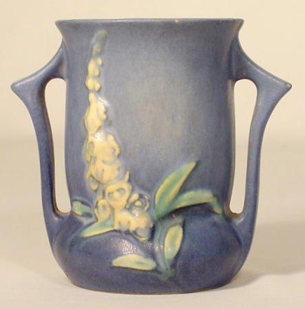"""2: Roseville Pottery 42-4 """"Foxglove""""  Vase NR"""