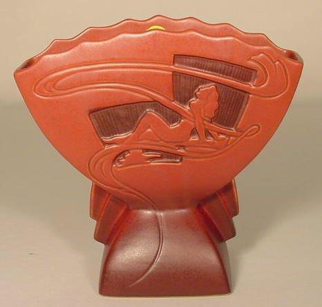 """4: Roseville Pottery 783-7 """"Silhouette""""  Vase NR"""