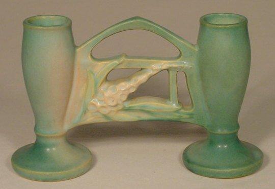 """10: Roseville Pottery 160-11X """"Foxglove"""" Vase N"""