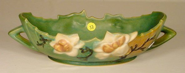 13: Roseville Pottery 449-10 Console Bowl NR