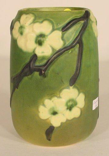 """16: Roseville Pottery """"Dogwood II"""" Vase NR"""