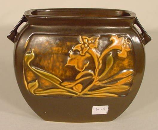 """17: Roseville Pottery """"Panel"""" Vase NR"""