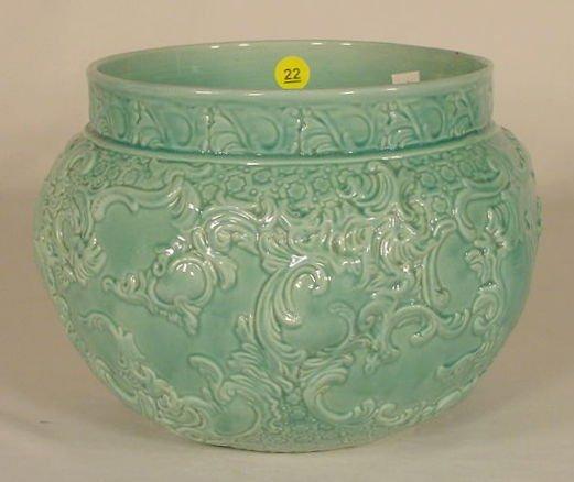 22: Marked England Pottery Jardiniere NR