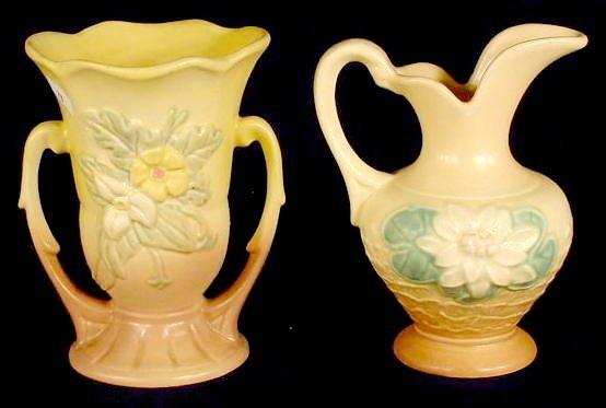 326: 2 Hull Art USA Pottery Items: Vase and Ewer NR - 2