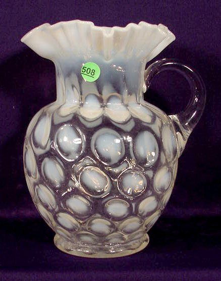 508: Victorian Opalescent Glass Water Pitcher NR