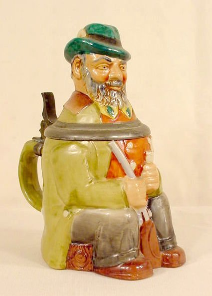 519: Figural Pottery Stein NR