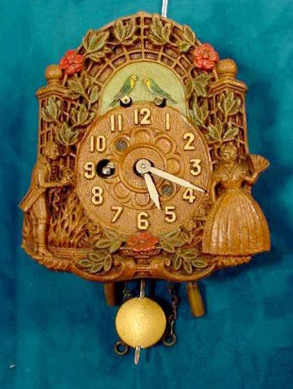 2002: Keebler Love Birds Pendulette Clock NR