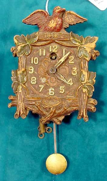 2003: Lux Dove With Spread Wings Pendulette Clock NR