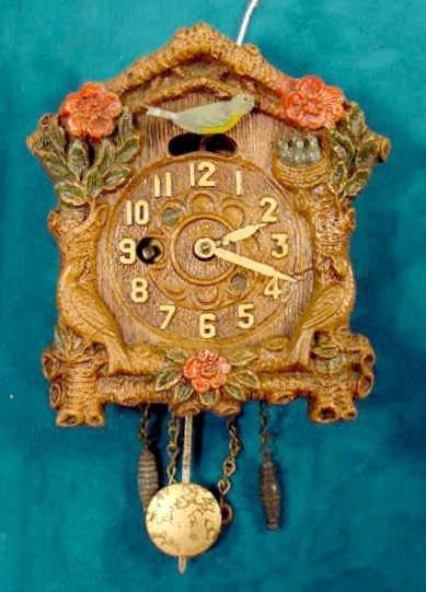 2004: Keebler Bluebird With Flower Pendulette Clock NR