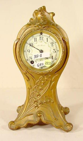 2015: Seth Thomas Spelter  Art Nouveau Shelf Clock NR